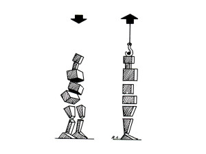 coluna blocos